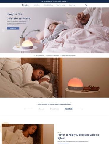 eCommerce website: Hatch