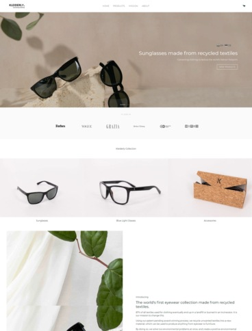 eCommerce website: Kleiderly