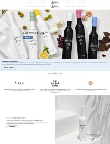 eCommerce website: Kosterina