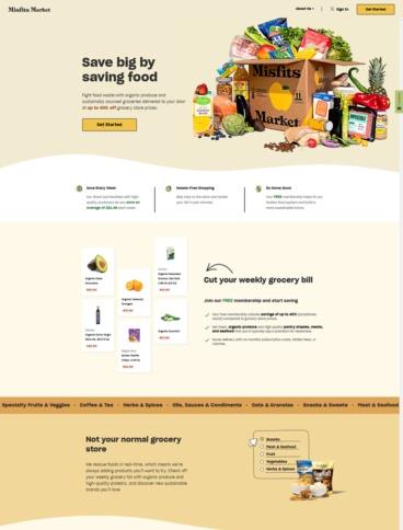 eCommerce website: Misfits Market