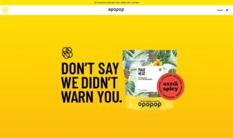 eCommerce website: Opopop