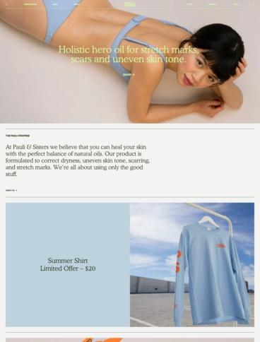 eCommerce website: Paul & Sisters