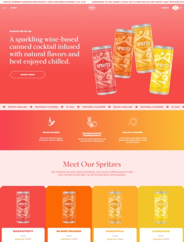 eCommerce website: Spritz Society