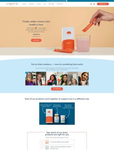 eCommerce website: Uqora