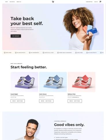 eCommerce website: Vibrants