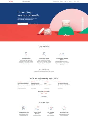 eCommerce website: Wisp