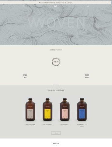 eCommerce website: Woven