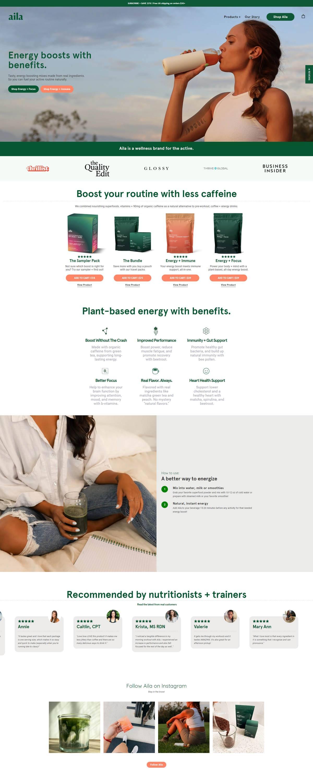 eCommerce website: Aila