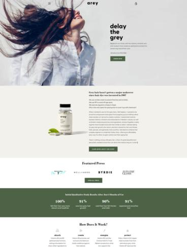 eCommerce website: Arey