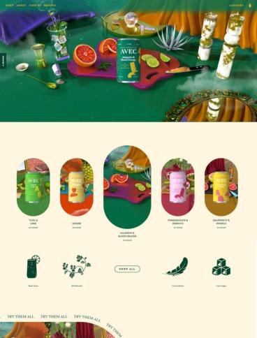 eCommerce website: AVEC Drinks