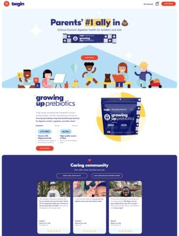 eCommerce website: Begin Health