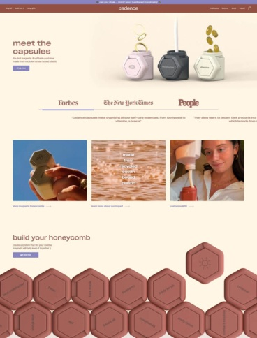 eCommerce website: Cadence