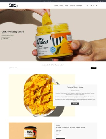 eCommerce website: Core and Rind