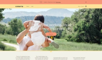eCommerce website: Coterie