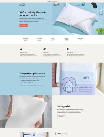 eCommerce website: Deja