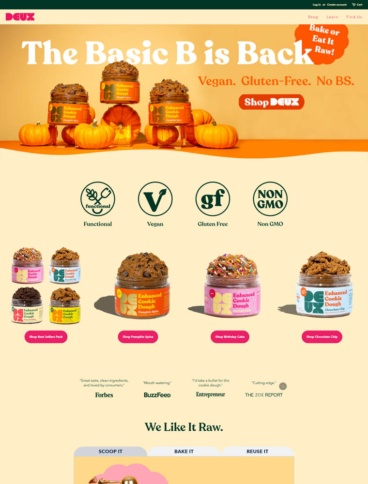 eCommerce website: DEUX