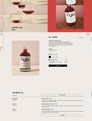 eCommerce website: Figlia