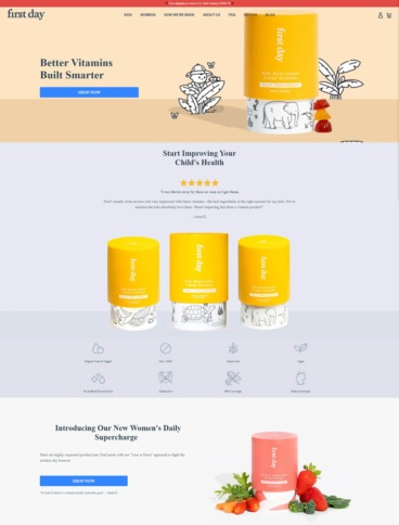 eCommerce website: First Day