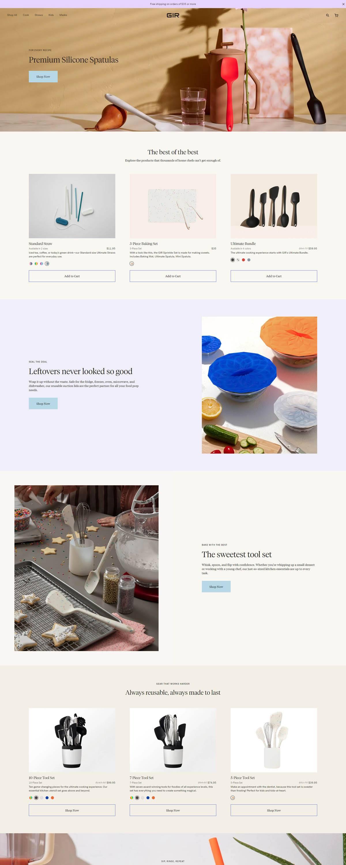 eCommerce website: GIR