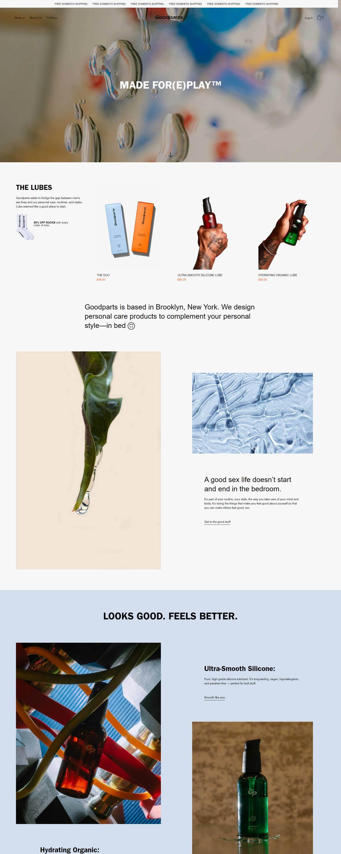 eCommerce website: Goodparts