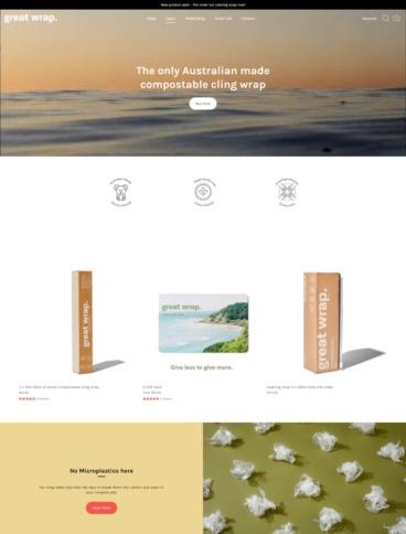 eCommerce website: Great Wrap