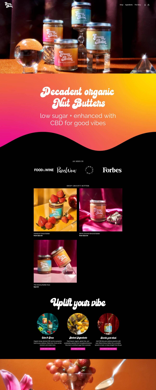 eCommerce website: Groovy Butter
