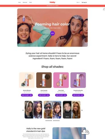 eCommerce website: Hally