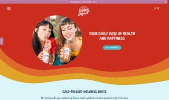 eCommerce website: Happy Moose Juice