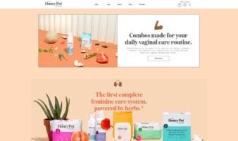 eCommerce website: The Honey Pot Company