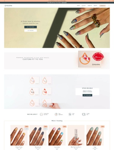 eCommerce website: ManiMe