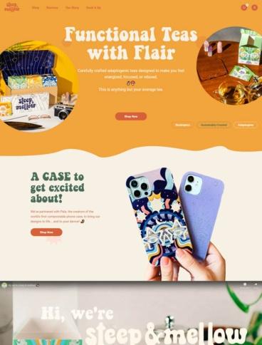 eCommerce website: Steep & Mellow