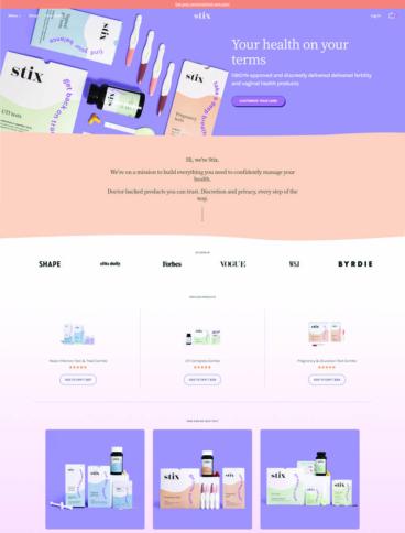 eCommerce website: Stix
