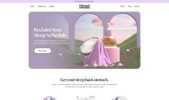 eCommerce website: Sweet Dreams