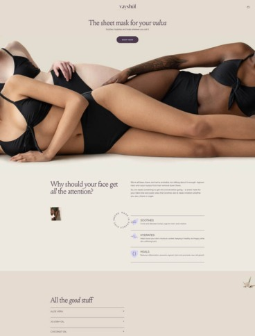 eCommerce website: Vayshul