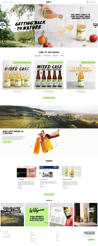 eCommerce website: Wildpress